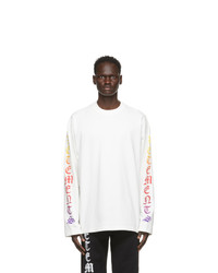 Vetements White Degrade Gothic Logo Long Sleeve T Shirt