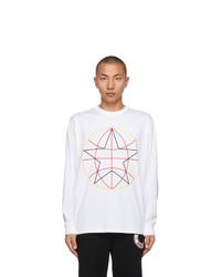 Burberry White Globe Star Long Sleeve T Shirt