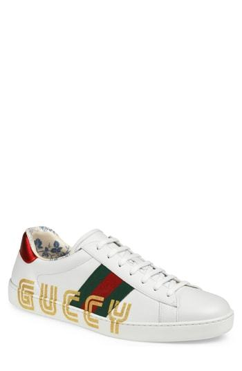Gucci New Ace Guccy Print Sneaker, $820