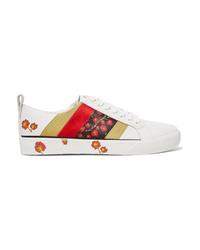 Diane von Furstenberg Tess Med Floral Print Leather Sneakers