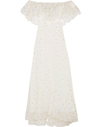 Temperley London Off The Shoulder Metallic Fil Coup Organza Gown
