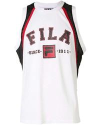 Fila Logo Printed Mesh Vest Top