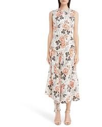 Victoria Beckham Floral Print Midi Dress