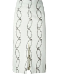 Altuzarra Chain Print Pencil Skirt
