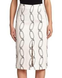 Altuzarra Printed Front Slit Skirt