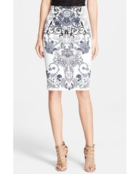 Versace Collection Print Pencil Skirt