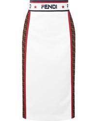 Fendi Jacquard Midi Skirt