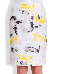 Jil Sander Tombola Printed Pencil Skirt