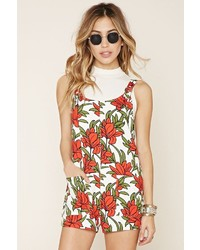 Forever 21 Boxy Floral Print Romper