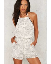 Factory Floral Authority Halter Romper