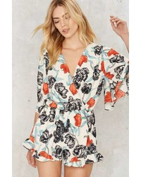 Factory Grow Matter What Floral Romper White