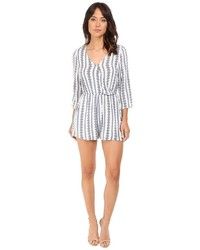 Brigitte Bailey Hadley Overlap Romper With Roll Up Sleeve