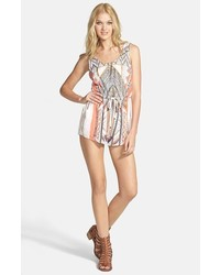 MinkPink Mayan Temple Print Woven Romper Multi Medium