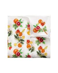 Eton Citrus Print Linen Pocket Square