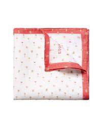 Eton Cocktail Print Linen Pocket Square