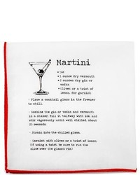 Cufflinks Inc. Cufflinks Inc Martini Recipe Pocket Square White Ties