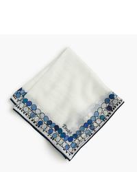 Drakes cotton silk pocket square in balloon print medium 442016