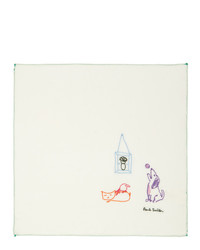 Paul Smith Off White Pauls Drawing Pocket Square