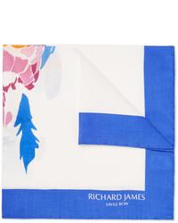 Richard James Parrot Print Silk Pocket Square