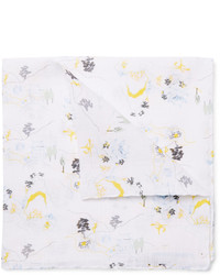 Thom Browne Printed Linen Pocket Square