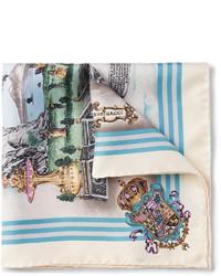 Rubinacci Macchina Della Cuccagna Printed Silk Twill Pocket Square