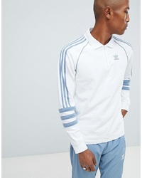 adidas Originals Authentic Rugby Top In White Dh3844