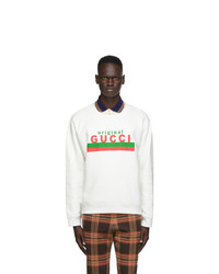 Gucci Off White Logo Sweatshirt