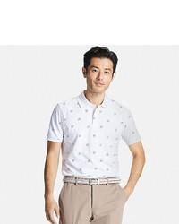 Uniqlo Dry Pique Printed Short Sleeve Polo Shirt