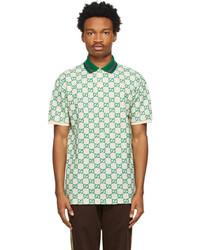 Gucci Off White Green Gg Polo