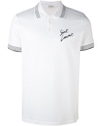 Saint Laurent Print Polo Shirt