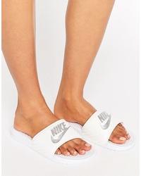 Nike Benassi Logo Sliders In White