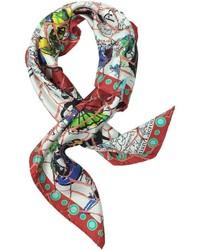 Christian Lacroix Lacroix Ceramic Print Silk Square Scarf