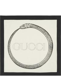 Gucci Printed Silk Twill Scarf Ivory
