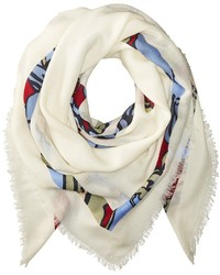 Tory Burch Printed T Logo Square Scarf Scarves