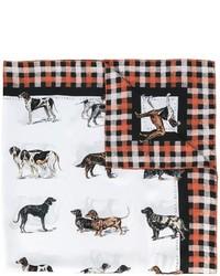 Stella McCartney Dog Tartan Print Scarf