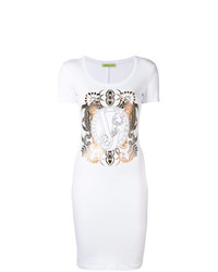 Versace Jeans Logo Fitted Mini Dress