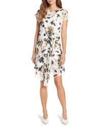 Kenneth Cole New York Gathered Front A Line Dress