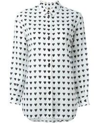 Burberry Heart Print Shirt