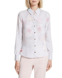 Ted Baker London Relar Chelsea Grey Flower Print Shirt