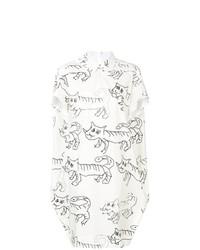 Marni Cat Print Shirt Dress