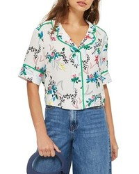 Topshop Print Pajama Shirt