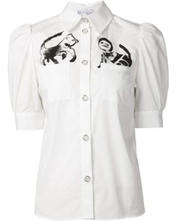 Claire barrow cat print shirt medium 350846