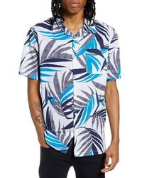 Vans Checker Floral Short Sleeve Button Up Camp Shirt