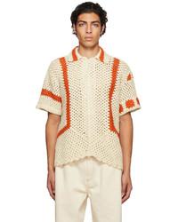 Bode Crochet Sunspot Shirt