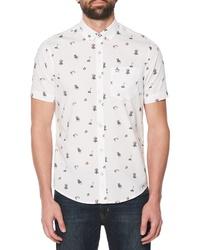 Original Penguin Dad Activity Print Woven Shirt