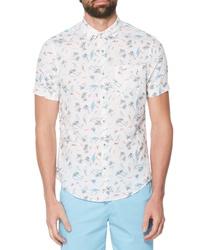 Original Penguin Hawaiian Vacation Linen Cotton Woven Shirt