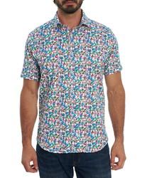 Robert Graham Jam Out Regular Fit Print Short Sleeve Button Up Shirt