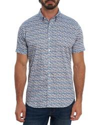 Robert Graham Medlocke Regular Fit Print Short Sleeve Button Up Shirt
