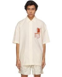 Jacquemus Off White Embroidered La Chemise Moisson Short Sleeve Shirt