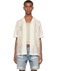 Amiri Off White Playboy Edition Checkered Short Sleeve Shirt